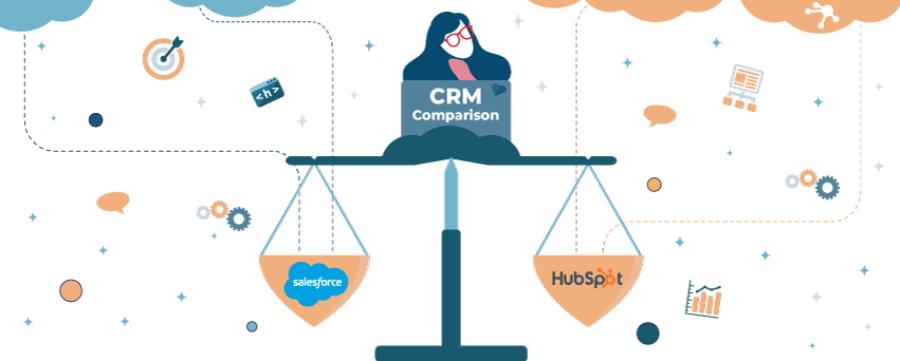 CRM comparison HubSpot vs Salesforce
